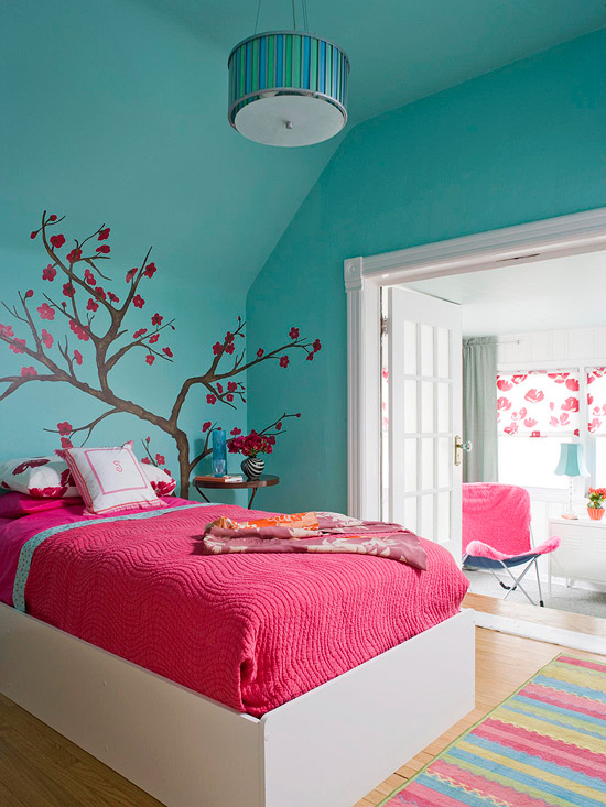 Wall Designs For Girls Room inspired by wedding trends girls bedroom colorsgirls room designgirl bedroomscolorful 18 Adorable Girl Rooms