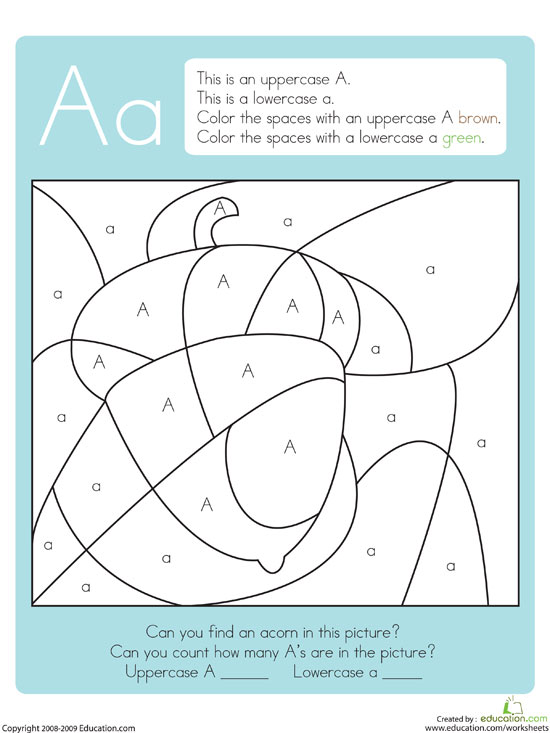 Hidden Color By Letter Printables