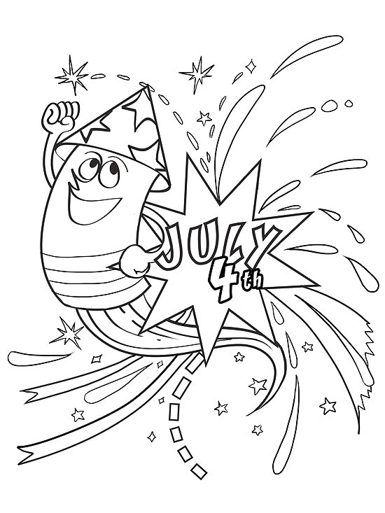 printable summer coloring pages - Firework Coloring Pages Printable