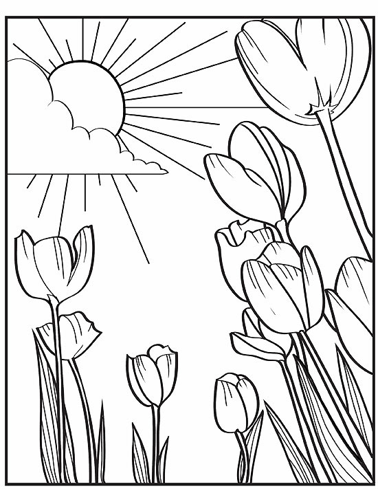 printable spring coloring pages - Spring Coloring Pages Printable