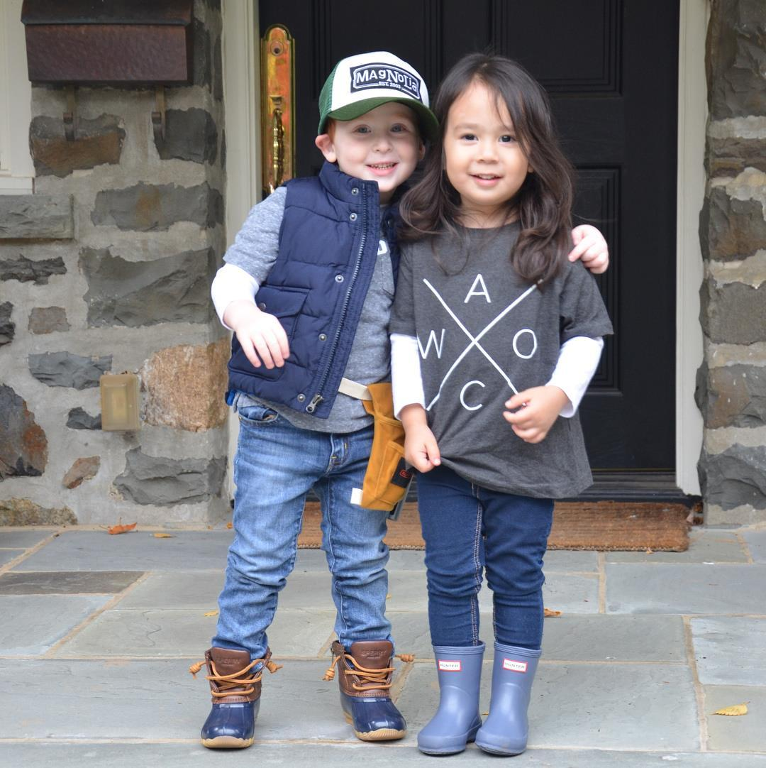 these toddler bffs dressed up as chip amp joanna gaines for