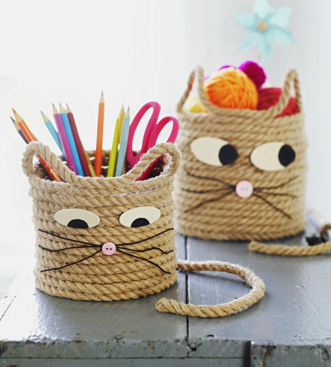 3 animal themed rope crafts parents