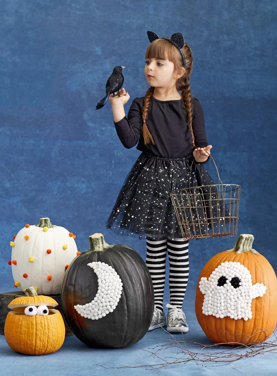 Decorate for halloween with no carve pumpkins - Childrens halloween decorations ...