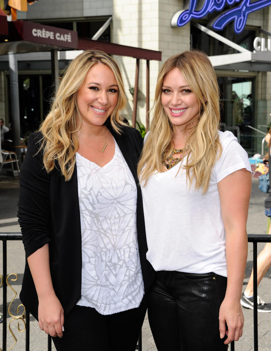 exclusive  hilary and haylie duff on mommy wars  social media  and a special trip to the food