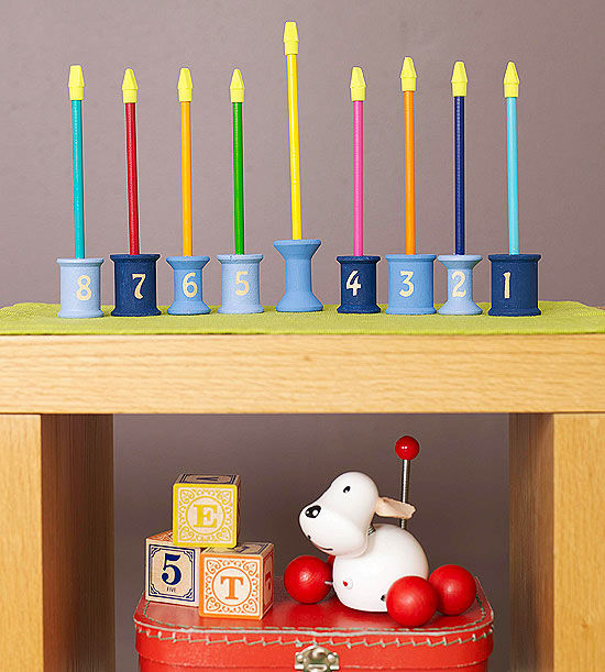 Cool Hanukkah Menorah Craft
