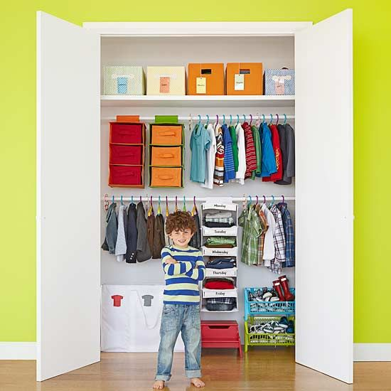 Simple ways to make over your child 39 s closet for Kids room closet ideas