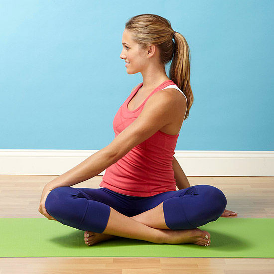 Fertility Yoga How To Do A Seated Twist Pose on Yoga Poses And Names For Kids
