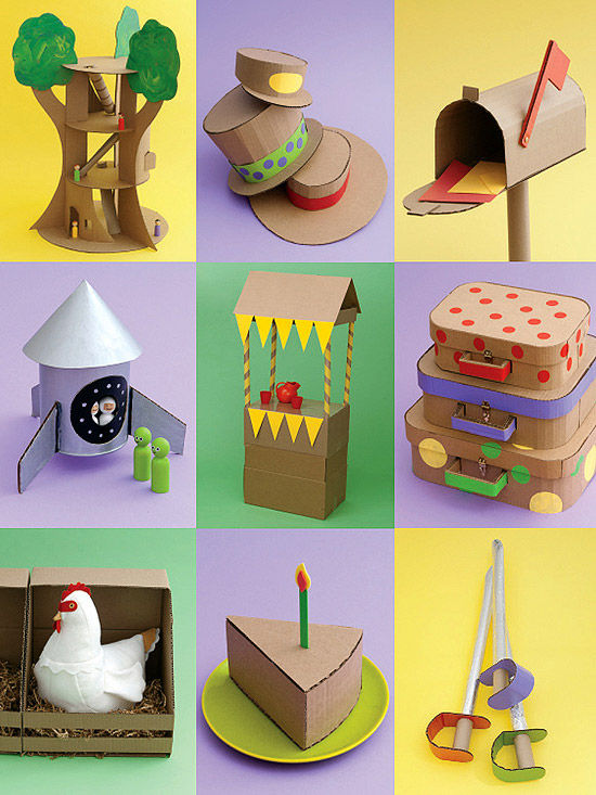 30 Shoe Box Craft Ideas: Crazy For Cardboard Crafts