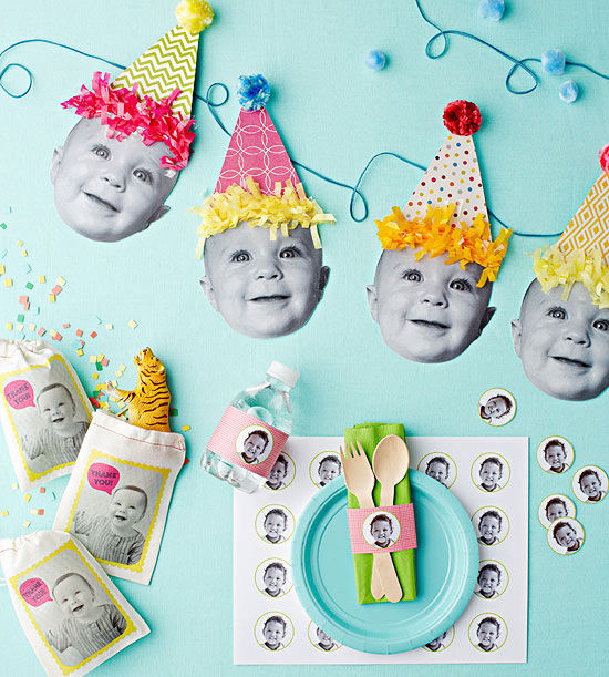 Snap happy baby face birthday decorations for 1st birthday decoration