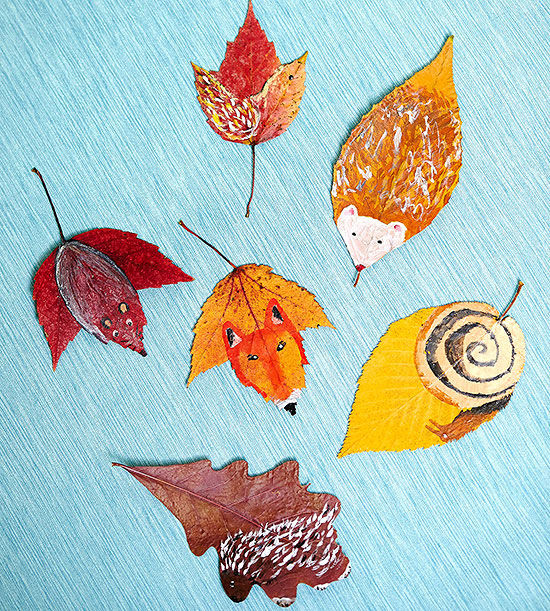Art Ideas With Leaves: Fun With Leaves