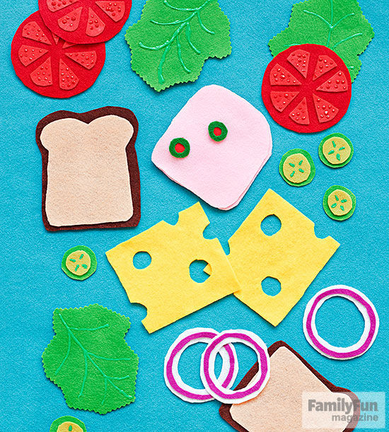 Cooking Arts And Crafts ~ Kid craft make fun felt food