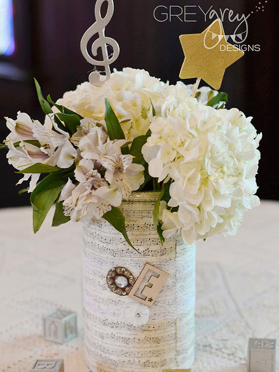 beautiful baby shower centerpieces