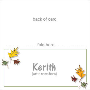Pretty Placecards for a Thanksgiving