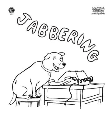 martha speaks coloring pages - photo#1