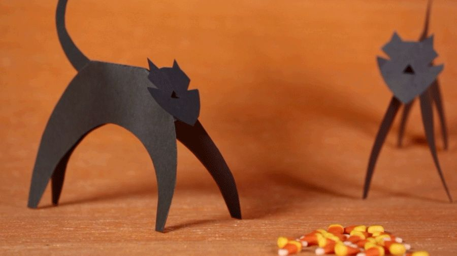 Halloween kid craft paper cat parents for Cat art and craft