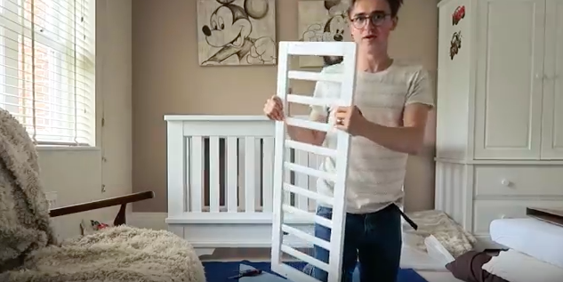 This Dad's Video of Converting a Crib to a Toddler Bed Is #LOL Funny