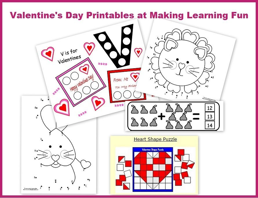 FREE Valentines Day Preschool Packets and Printables – Valentine Worksheet