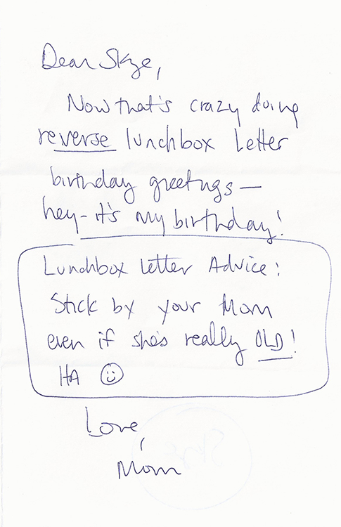advice from my mom lunchbox letters parents