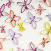 Cute Cardboard Tube Crafts Butterflies on Wall