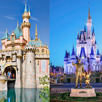 Disneyland Resort VS Walt Disney World Castles