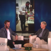 Celebrity dad Chris Hemsworth tells Ellen Degeneres about his daughter wanting a penis like her little brothers have.