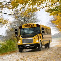 School Bus in Fall