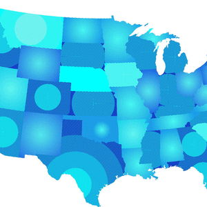 Little Known STATES Blue America Map
