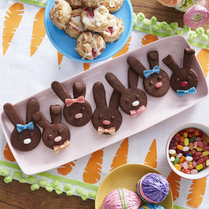 Easter Dessert Chocolate Bunny Cutouts