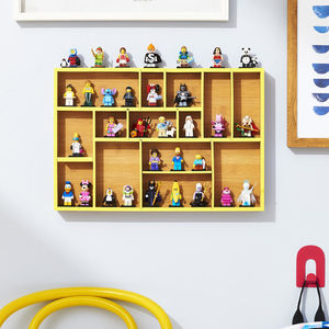 Kids Collections Adjustable Bamboo Drawer Organizer Wall Display