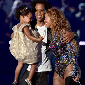Beyonce, Jay Z, and Blue Ivy at MTV Awards