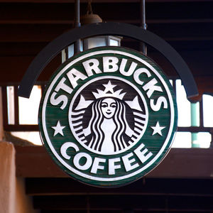 Starbucks logo in store in New Mexico