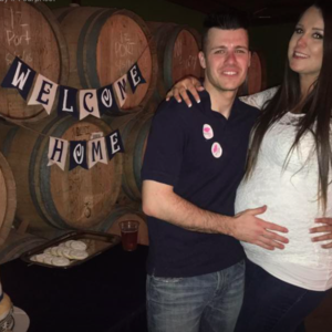 natasha and chris daugherty pregnancy reveal
