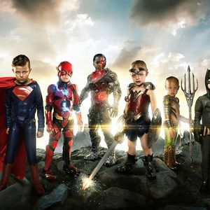 Josh Rossi group shot of Justice League kids