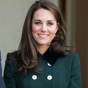 kate middleton in green jacket 2017
