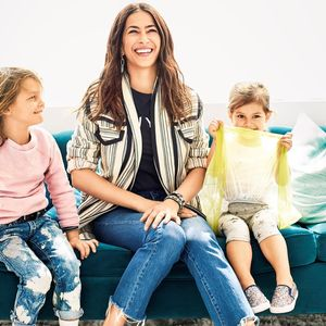 Rebecca Minkoff and Kids on Couch