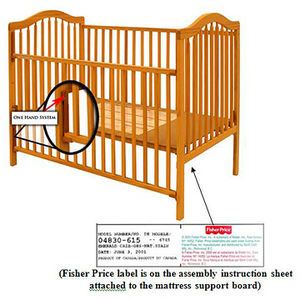 Stork Craft Drop-Side Cribs Recalled recall image