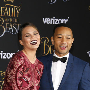 John Legend Chrissy Teigen Beauty and the Beast Premiere