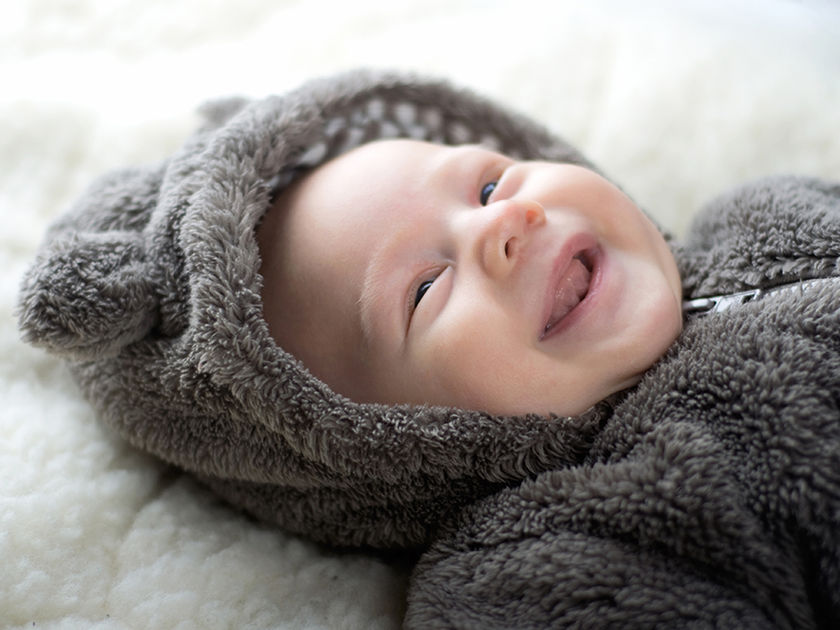 baby smiling and laughing