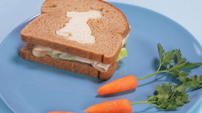 Easter Sandwich Idea: There's a Hare in My Lunch
