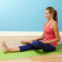 Half Ankle to Knee Yoga Pose