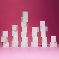 stack of sugar cubes