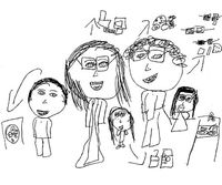Gallery For gt Family Of 5 Stick Figures 3 Girls