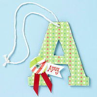 Personalized Letter Ornament