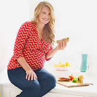 Pregnant woman eating