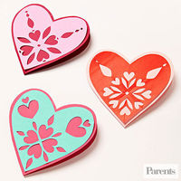 Snowflake Heart Cards