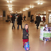Girl in Grand Central Terminal