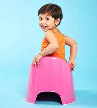 using a child-sized toilet
