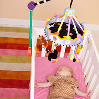 Hang a Mobile above Her Crib