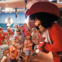 live show with Captain Hook on Disney Wonder's 5-night Bahamian