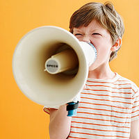child with loud mouth